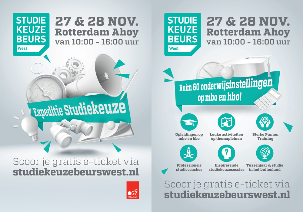 Flyer Studiekeuzebeurs West